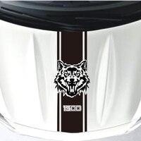 YONGXun Gloss Black Wolf Auto Side Skirt Car Sticker Racing Stripe Side Body Garland General Vehicle