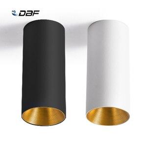 Image 1 - [DBF] נורדי COB צמודי Downlight 10W 12W 15W רקע קיר בגדי חנות Showcase חלון LED תקרת ספוט תאורה