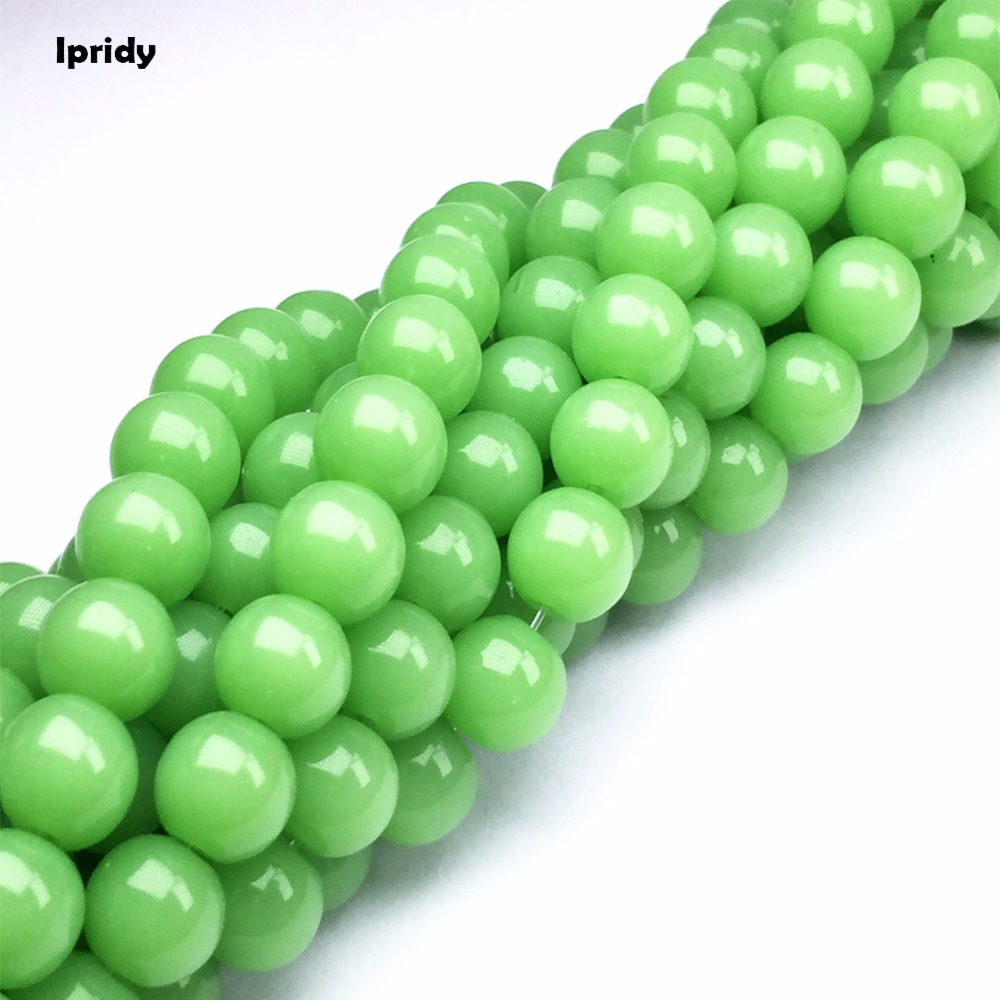 4MM GREEN JADE GEMSTONE GREEN TRANSLUCENT ROUND 4MM LOOSE BEADS 15/""