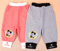 Autumn Children Clothing Baby Babi Kids Infant 0-2Y Striped Print Cartoon Long Pants PLUS035