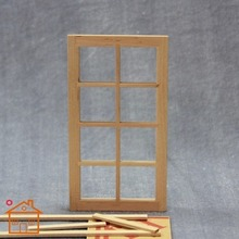 1:12 Dollhouse Toy Accessories Mini Window with  8 Squares for Doll Home DIY Decorations two squares page 1