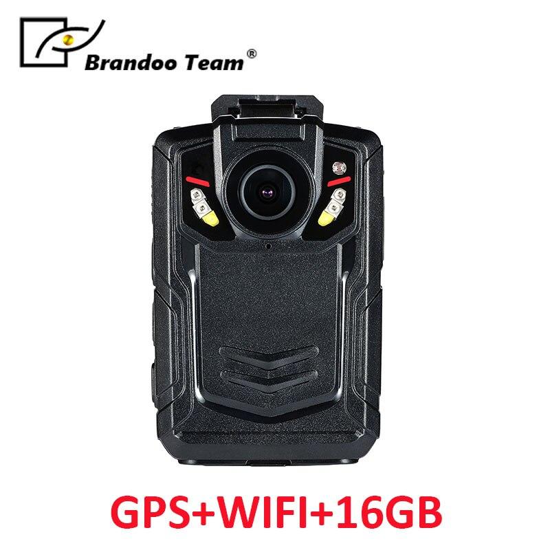 лучшая цена GPS WIFI 16GB Body Worn Camera Police Pocket Video Recorder WIFI 16GB 1080P Night Vision camera