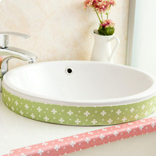 Kitchen self adhesive static water tank wall stickers sink waterproof stickers toilet bathroom washstand glass stickers