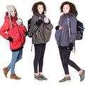 Las mujeres embarazadas haqueta KangarooMaternity Embarazo Mujer con capucha de la cremallera De Abrigo cálido chaquetas abrigos otoño invierno 2017 nuevo