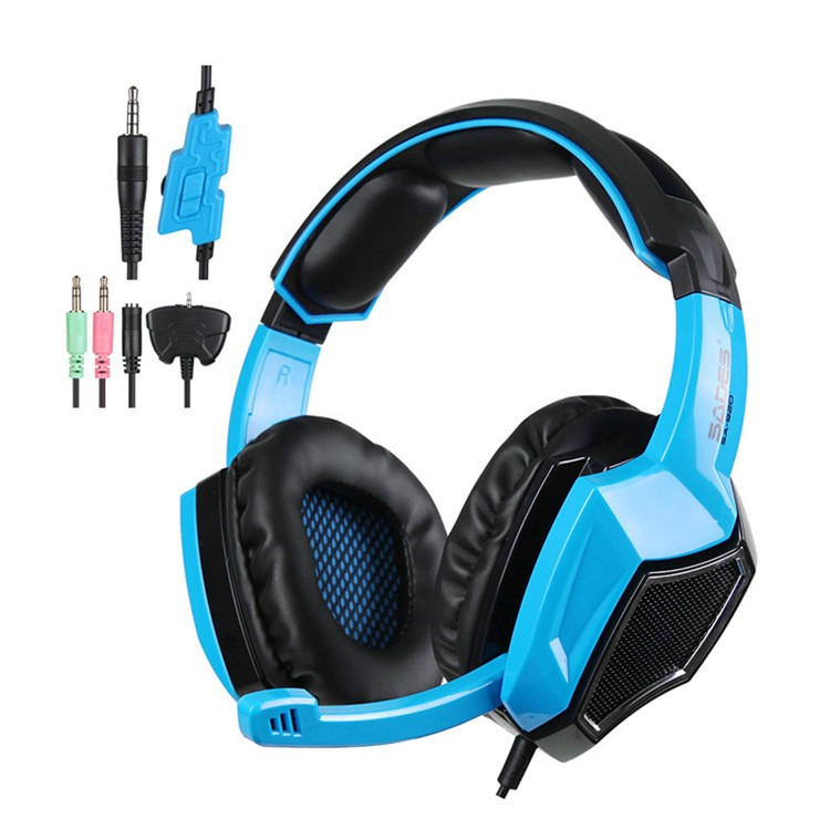 New Sades SA920 Stereo Gaming Headset for Laptop Tablet PS4 PC Gamer Mac XBOX 360 Cellphone Pro Game Headphones with Microphone (2)
