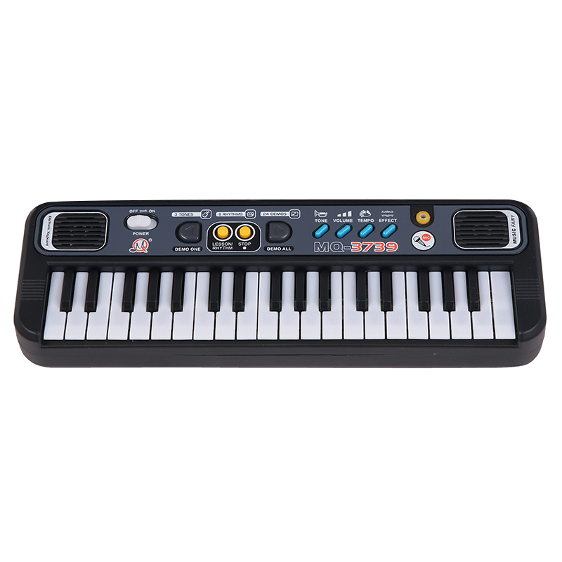 Multifunctional Mini Electronic Piano With Microphone Abs Children Portable 37 Keys Digital Music Electone Keyboard Gift