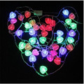 4m Hot Selling  LED STRING Strip 20 Hearts LED Holiday CHRISTMAS WEDDING  Decoration LIGHTs Lamps Drop