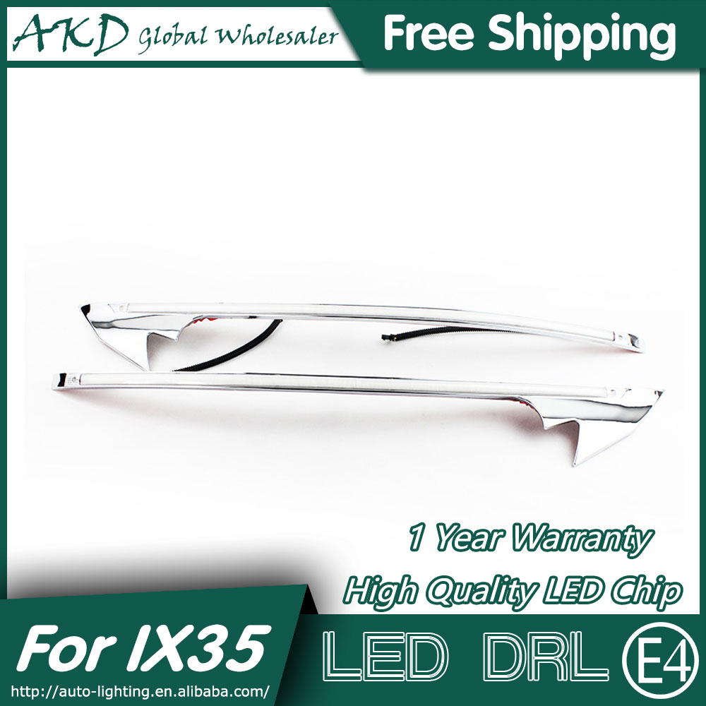 AKD Car Styling LED DRL for Hyundai IX35 2010-2015 New Tucson Eye Brow Light LED External Lamp Signal Parking Accessories akd car styling led drl for kia k2 2012 2014 new rio eye brow light led external lamp signal parking accessories