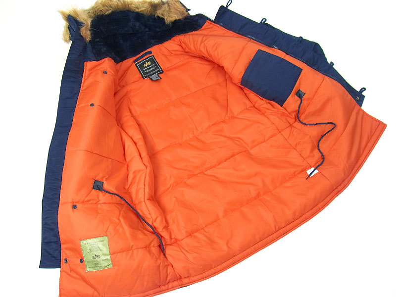 2013 ALPHA SLIM N 3B N3B COLD WEATHER Fit PARKA SAGE/ORANGE S M L ...