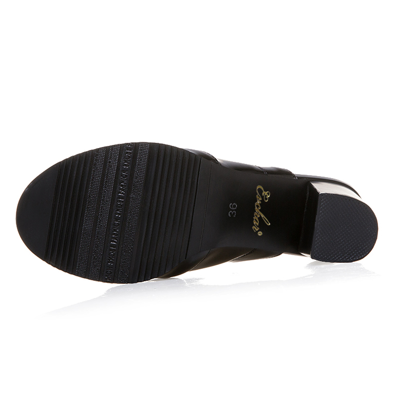 white Pelle In Scarpe Grandi Di Diapositive 283 Spessi 47 Alto Pu Black Toe Pantofole Tacco Peep Alti Evchar Concise Estive 31 Tacchi 283 Dimensioni BwqEt4xFa