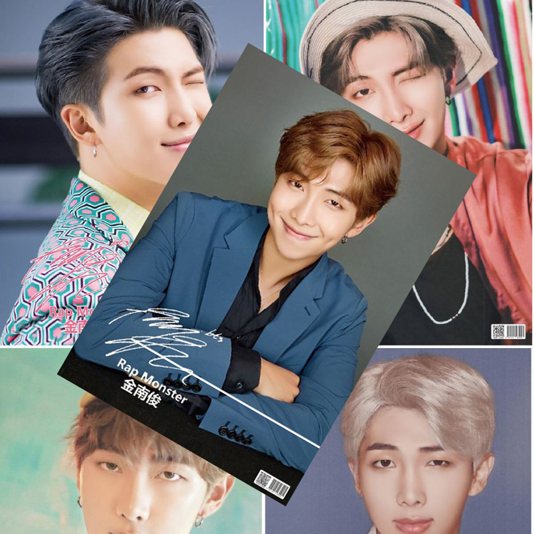 8*(42x29cm)NEW Bangtan Boys <font><b>Kim</b></font> Nam Jun Rap Monster RM Posters Wall <font><b>Stickers</b></font> Gift KPOP around posters image