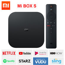 Xiaomi mi box S, smart tv box android 8,1 4 K HDR Quad Core 2G 8G WIFI Google Cast Netflix IPTV Set top Box 4 reproductor de medios, versión Global(China)
