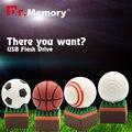 Futebol flash drive usb stick usb 2.0 4 gb pen drive golfball cartão de memória flash de 8 gb pendrive memoria 16 gb pen drive 32 gb usb flash presente