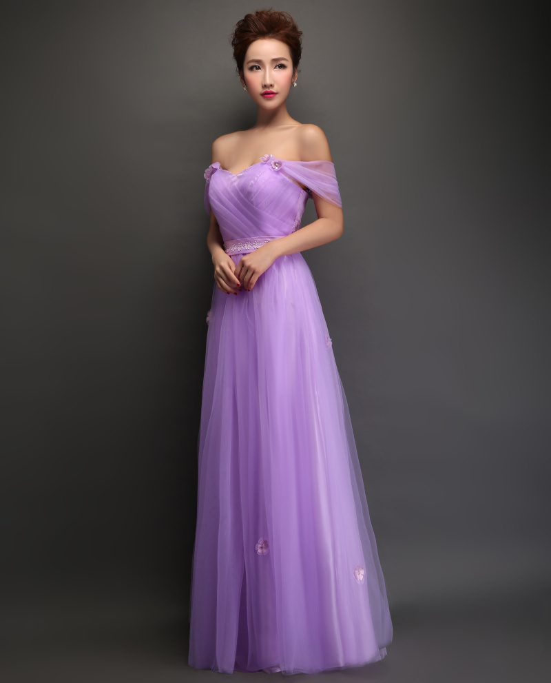 Violet evening dress 2015 bride lace sweet a line long for Plus size dresses weddings and proms