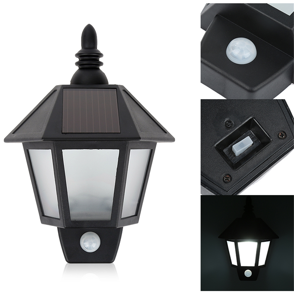 High Quality 1x LED Solar Power Street Light PIR Motion Sensor Light Garden Security Lamp Outdoor Waterproof Wall Light Hot Sale potenco solar led night light outdoor wall garden light pir motion sensor led lamp energy saving emergency lights waterproof