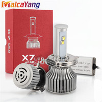X7 Car LED Headlight 7200LM Pair Auto Bulb Lights H1 H3 H27 H7 H11 HB3 9006