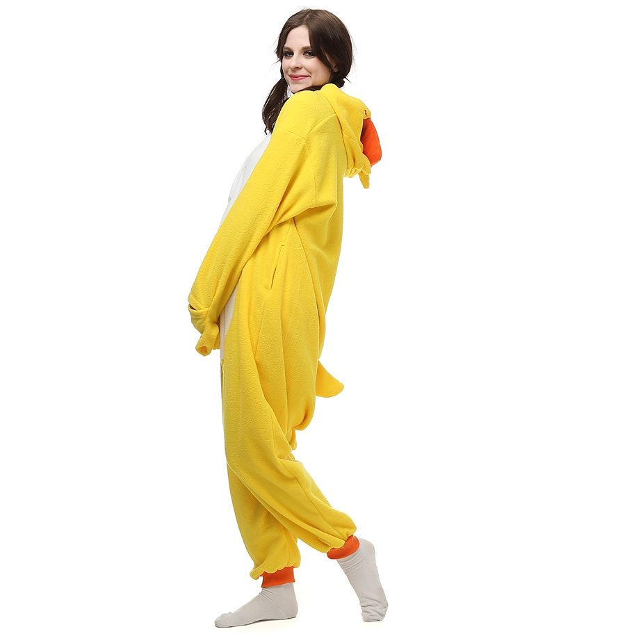 Adults Polar Fleece Kigurumi Little Yellow Duck Costume Animal Baju Bayi Laki Foxy Suit Onesie Pajamas Halloween Carnival Masquerade Party Jumpsuit In Anime Costumes From Novelty