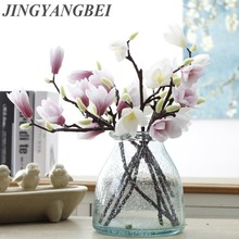 3D Silk Magnolia Branch Artificial Flowers High Quality Fake Flower for wedding decorate home decoration Party accessory