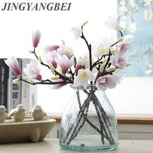 Fleurs artificielles en soie 3D Magnolia, fleur de haute qualité pour décoration de mariage à domicile, accessoire de fête