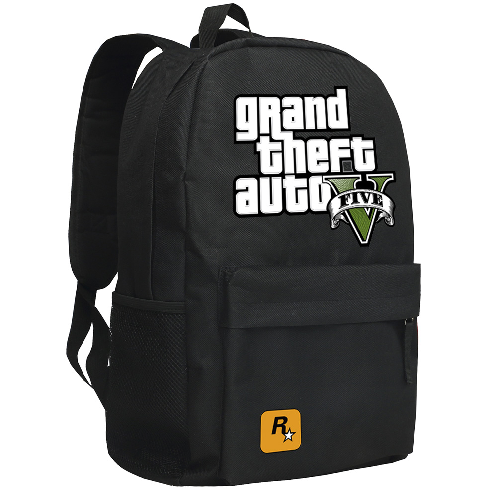 New Fashion Grand Theft Auto Lelaki Canvas Backpack For Boys High Quality GTA School Bag Large Casual Travel Shoulder Bags