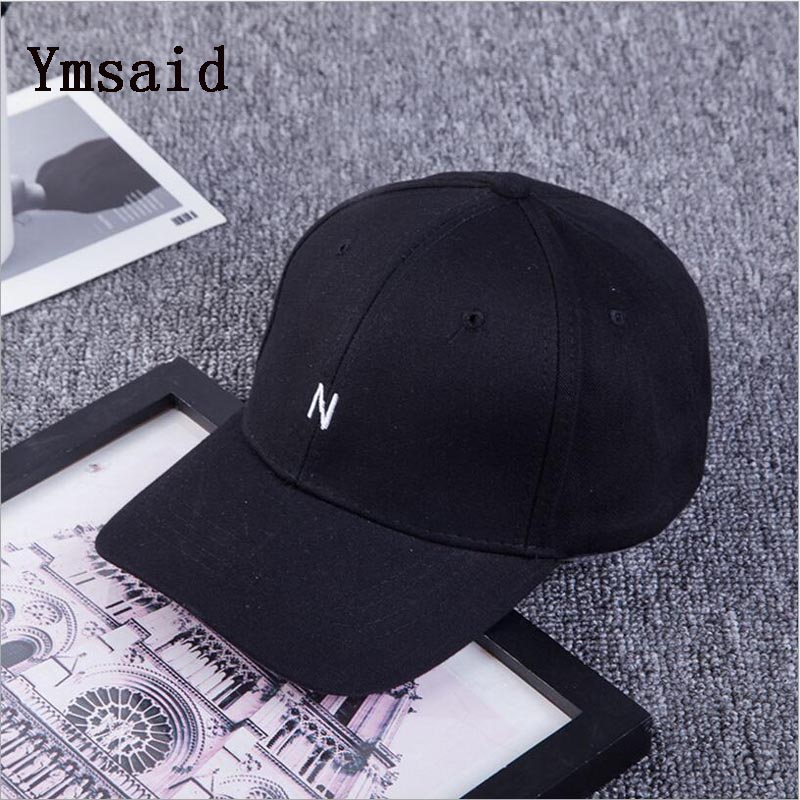 Ymsaid 2018 New Fashion Embroidered Letter Cotton Baseball Cap Women Men Black White Pink Hip Hop Snapback Hats for Girls