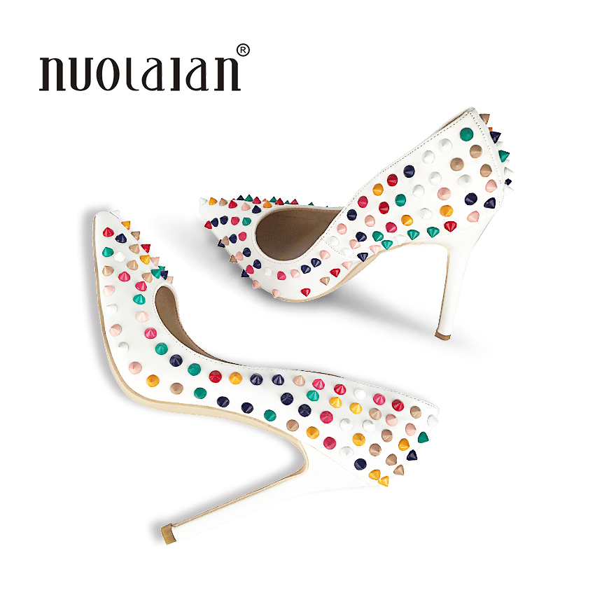 2018 Brand Women Pumps Sesy High Heels 12CM Riverts Women's Shoes Pointed Toe High Heels Party Wedding Shoes Woman