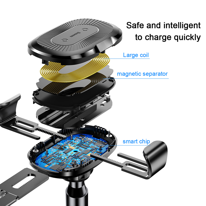Image 4 - Baseus Gravity Car Holder Quick QI Wireless Charger For iPhone X Samsung S9 Quick Charge Wireless Charging Phone Holder in car-in Phone Holders & Stands from Cellphones & Telecommunications