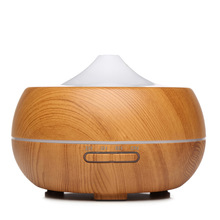 air humidifier 300ml Ultrasonic Aroma Essential Oil Diffuser 7 Color Changing LED Lights Aromatherapy machine with Wood Grain 300ml colorful led timing ultrasonic wood grain base aromatherapy machine air humidifier aerosol dispenser diffuser 2 colors