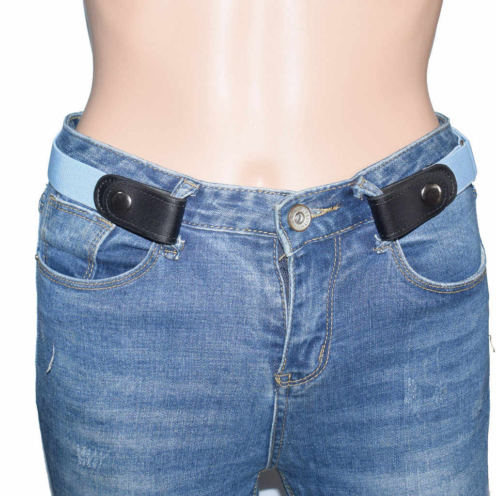 Buckle-Free Belt For Jean Pants No Buckle Invisible Stretch Elastic Waist Belt For Adult/Children ,No Bulge,No Hassle Waist Belt