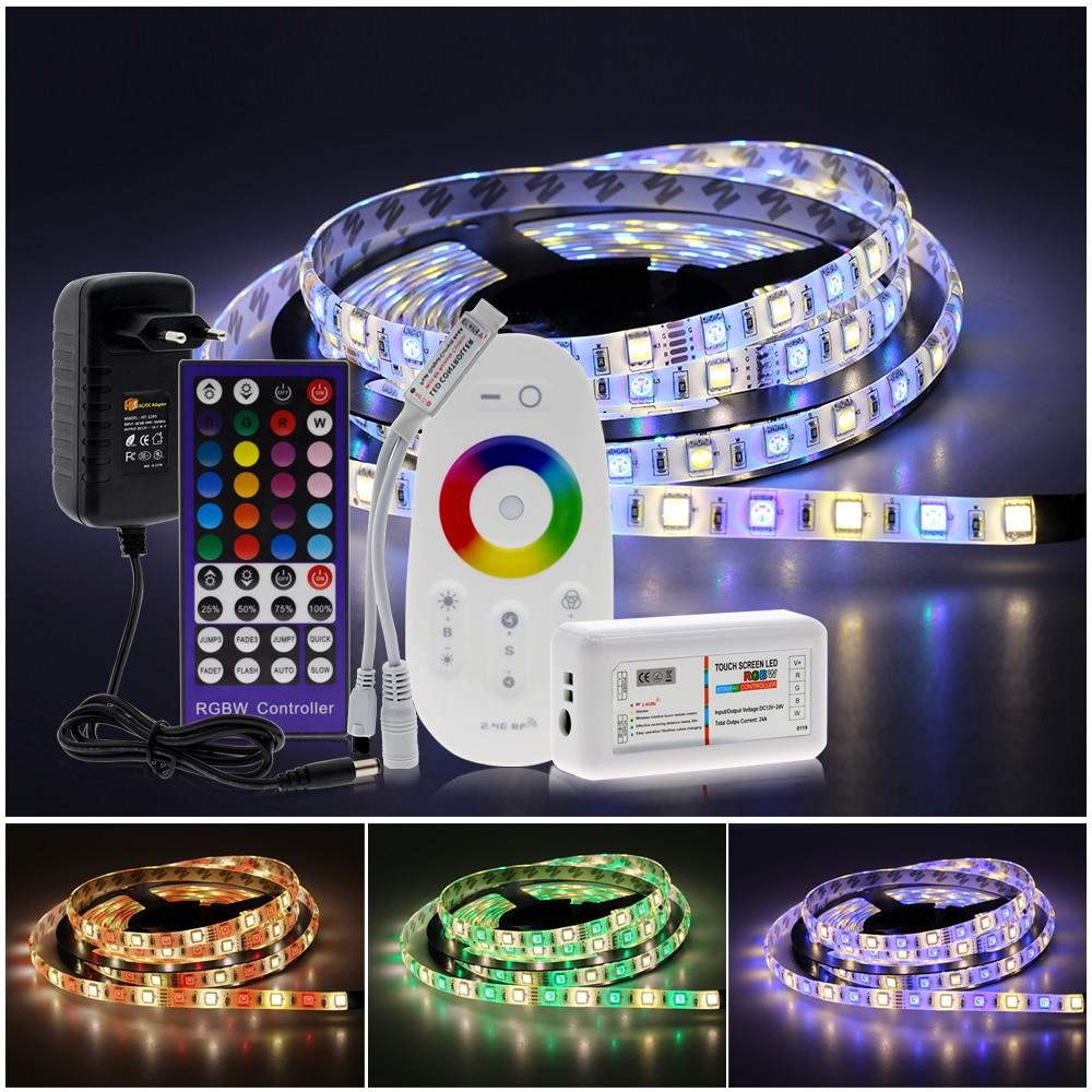 5050 LED Strip RGB RGBW RGBWW 5M 300LEDs RGB Color Changeable Flexible LED Light Remote Controller 5050 LED Strip RGB / RGBW / RGBWW 5M 300LEDs RGB Color Changeable Flexible LED Light + Remote Controller + 12V 3A Power Adapter