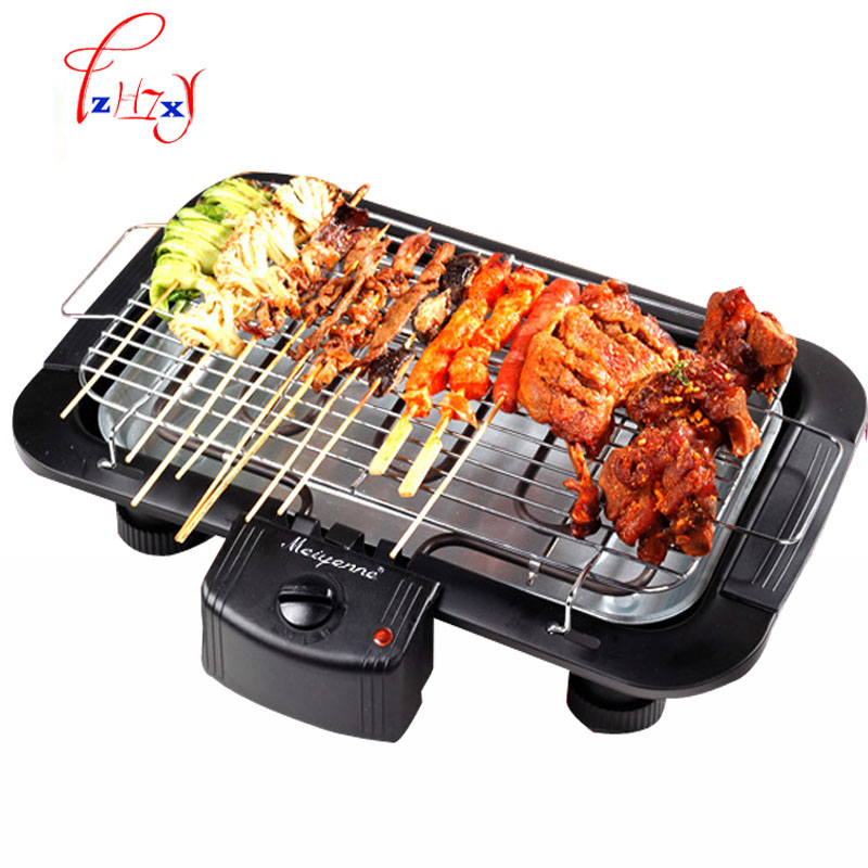 2000W Electric Heating Smokeless Barbecue Grill Indoor Carbon free electric Furnace BBQ  JBQ-01A automatic smokeless bbq grill household electric hotplate stove teppanyaki barbecue pan skewer machine stainless steel outdoor