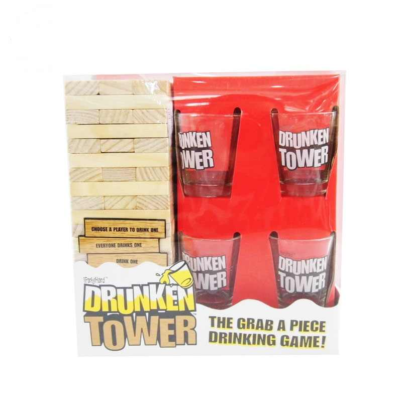 Party Board Game Wood Building Blocks Drinking Games With 4 Glass Set Drunken Tower Holiday Christmas Party Nightclub Wooden Toy Board Game Party Board Gamesgames Board Games Aliexpress