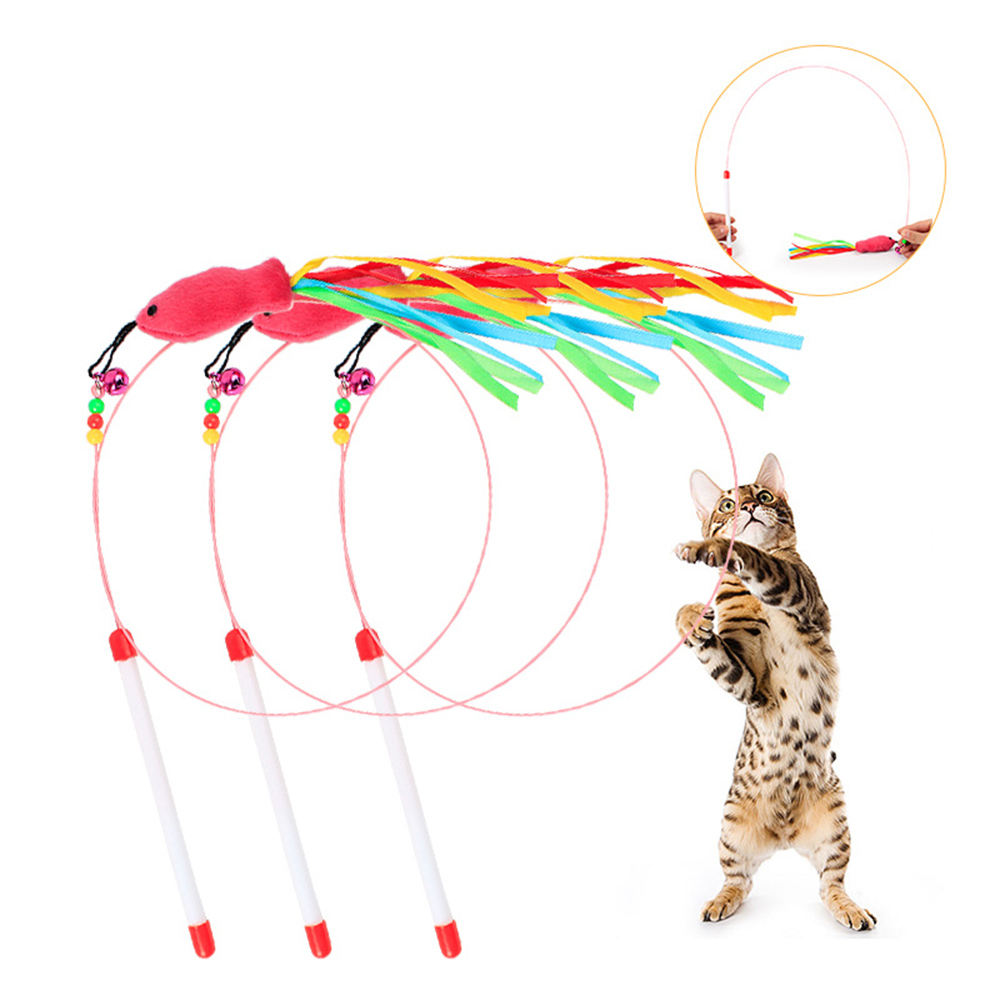 Cat Wire | Hot Sale Funny Cat Kitten Pet Teaser Fish Ribbon Wire Chaser Pet