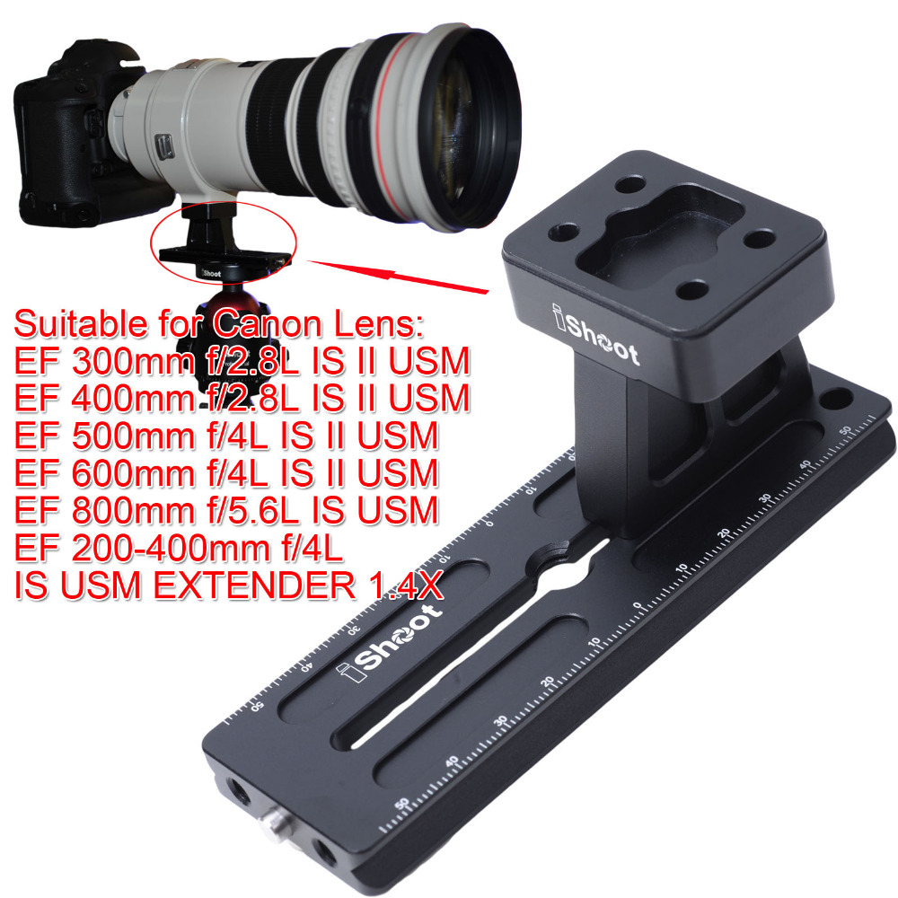 все цены на Lens Collar Foot Tripod Mount Ring Stand Base + Camera Quick Release Plate for Canon Long Lens EF 400mm f/2.8L IS II USM