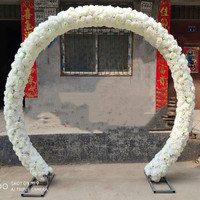 New Arrival Wedding Centerpieces Arch Flower with Iron Frame Sets for Party Event Opening Ceremony Festive Suppliles