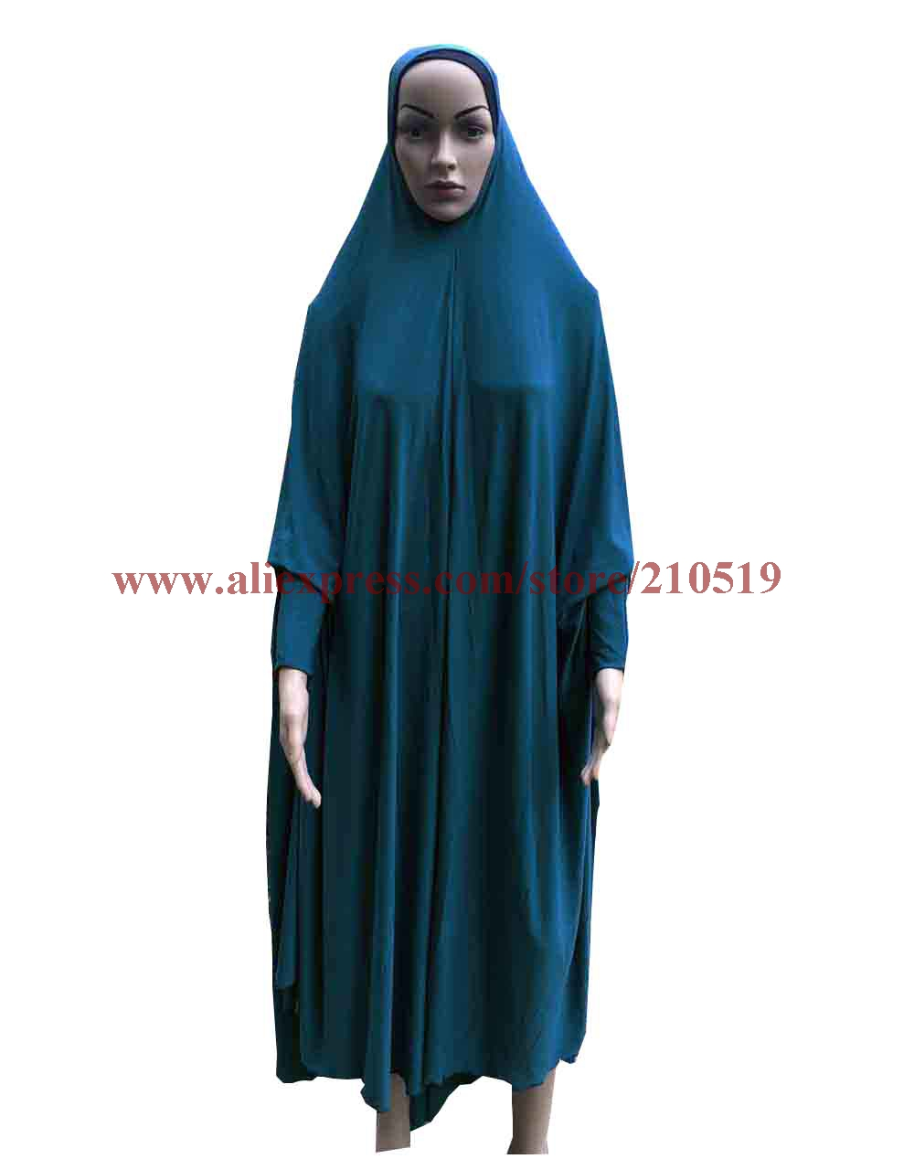 Popular Plain muslim prayer Clothing big oversize hijab Khimmar Long Khimars with sleeves