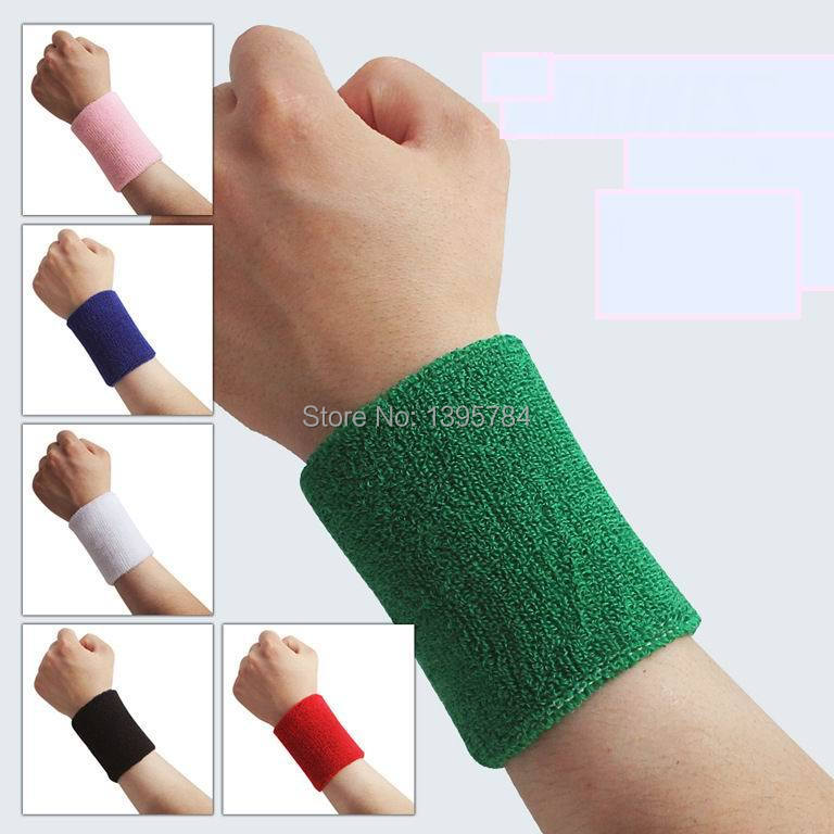 Prix pour 10 pcs 8*7.5 cm éponge bracelets anti-transpiration sport orthèse de poignet bandeau tunnel carpien support de poignet munhequeira Gros