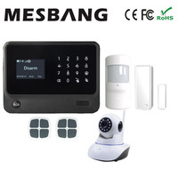 Smart Home Wifi GSM GPRS Burgar Security Alarm System Wifi IP Camera With English French Russian