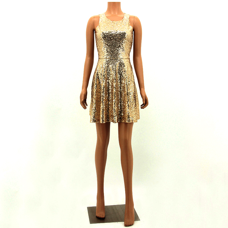 summer 2017 sexy party gold sequin dress vestidos woman glitter dress sequin dress backless dress jurken short womens clothing 5
