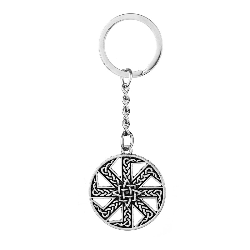 Key Chains Jewelry & Accessories 5pcs Slavic Kolovrat Pendant Key Chain Norse Viking Talisman Best Friend Gift Jewelry Selling Well All Over The World