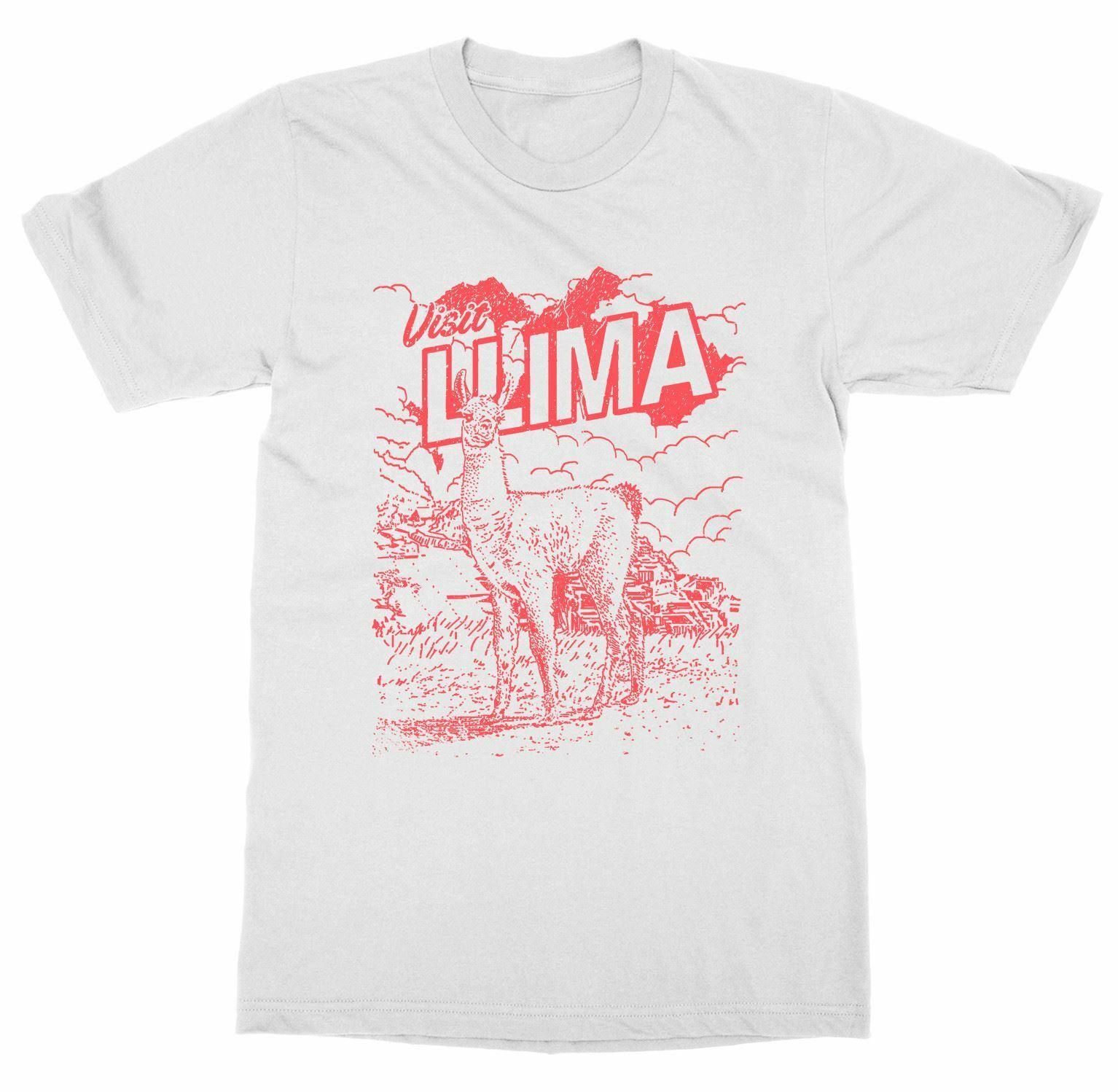 2019 Cool visite Lima pérou T-Shirt voyage monde ville passeport se promener vacances lama Tour unisexe T-Shirt