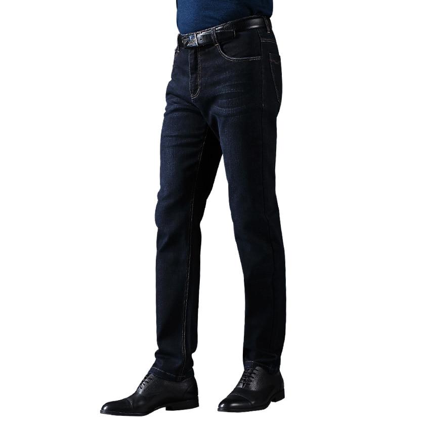 цена на 2017 LABEOUF Dark blue Jeans men's Jeans Long casual straight Slim male pants Masculina Cotton Denim Jeans for men