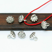 TJP 20pcs Antique Silver Tone lotus Seedpod Spacers Beads Charms for Bracelets Necklaces DIY Jewelry Making Findings 8.5mm
