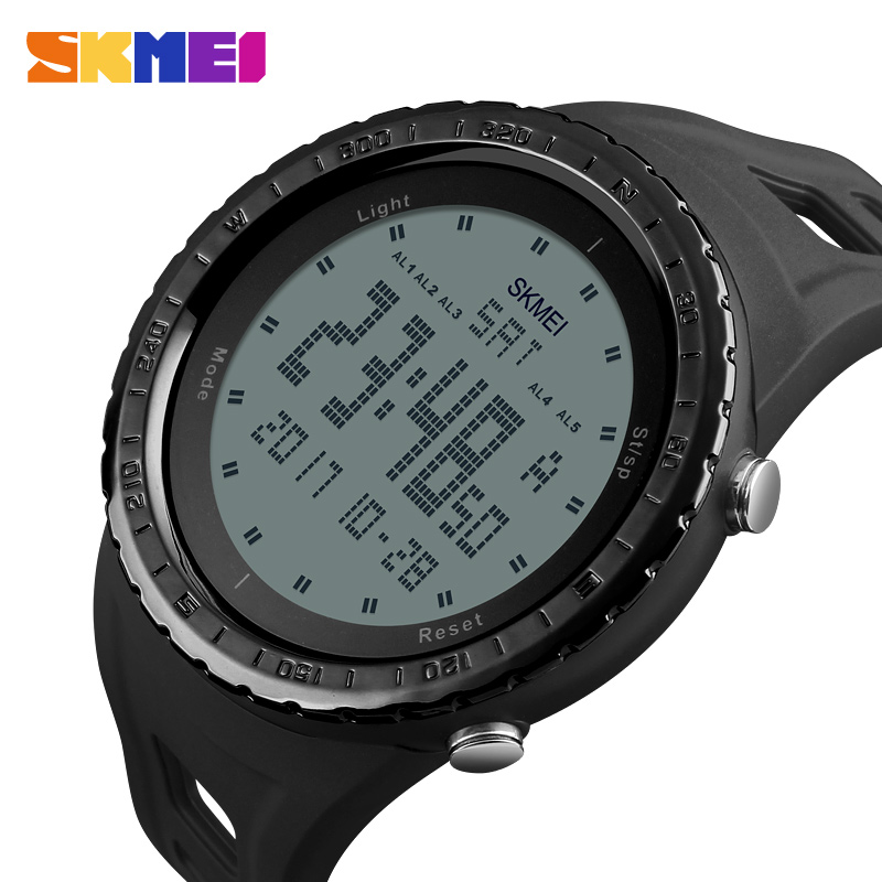 SKMEI Men Sports Watches Countdown Chrono Double Time EL Light Digital Wristwatches Water Resistant Horloge Orologio Uomo Watch цена