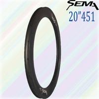 20 Inch 451 50 Carbon Rim FOR RECUMBENT WHEEL