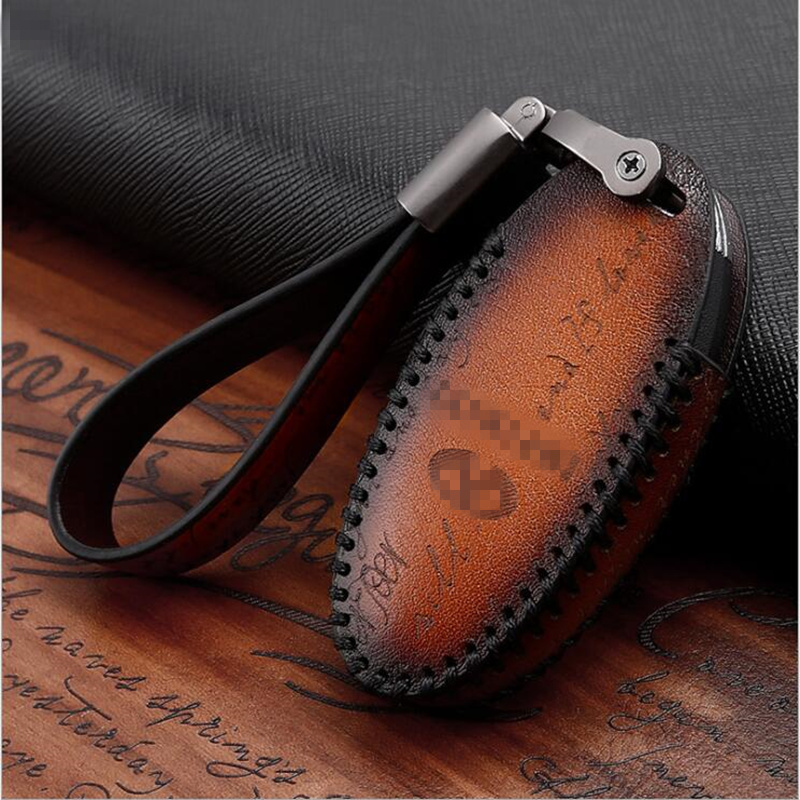 Genuine Leather Car Key Case Cover For Infiniti FX35 FX37 FX50 G25 G35 G37 JX35 M35 M37 M45 Q70 Protection Key Shell Skin Bag