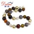DAIMI 2017 Новое Прибытие 12-16 мм Большой Агат Жемчужное Ожерелье заявление ожерелье Изящных ювелирных изделий для женщин.