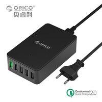 Voor Qualcomm Gecertificeerd Quick Charge 2.0 ORICO 5 Port Desktop USB Charger Galaxy S7/S6/Rand, Note 4/5, iPhone, Nexus Meer (QSE-5U)