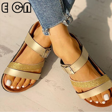 Sequined Roman Slippers Women Flat Slippers Flip Flops Female Romanesque Shoes Girl Comfortable Women Footwear House Shoes