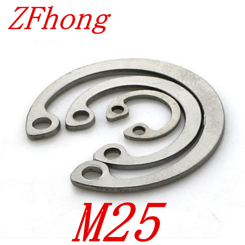 20pcs 304 Stainless Steel SS DIN472 M25 C Type Snap Retaining Ring For 25mm Internal Bore Circlip
